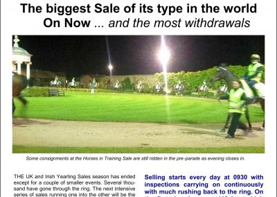 The biggest Sale of its type in the world – Turf Talk: 24 October 2016