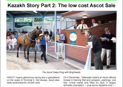 Kazakh Story Part 2: The low cost Ascot Sale – Turf Talk: 19 December 2016