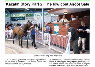 Kazakh Story Part 2: The low cost Ascot Sale – Turf Talk: 19 December 2016