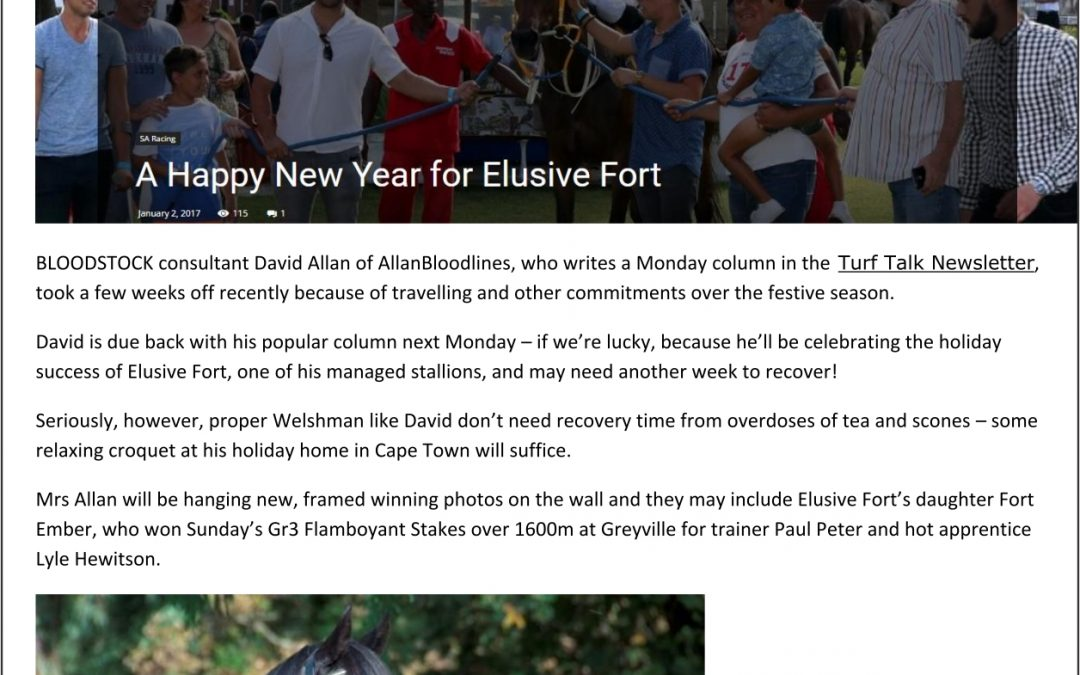 A Happy New Year for Elusive Fort – Turf Talk: 3 January 2017
