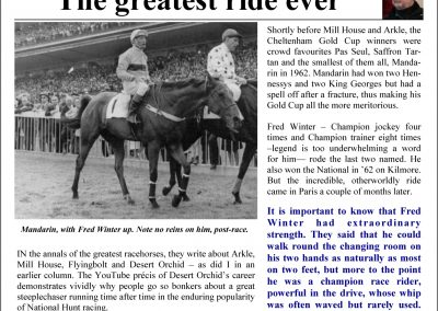 The greatest ride ever – Turf Talk: 20 February 2017