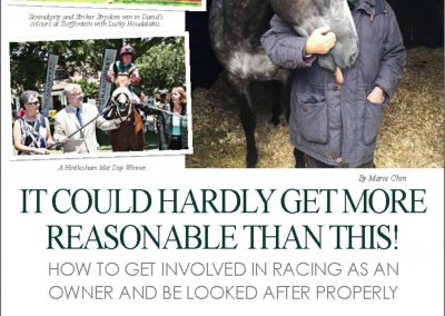 David Allan International Racehorse Magazine Interview: 23 October 2017
