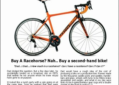 Buy A Racehorse? Nah.. Buy a second-hand bike! – Turf Talk: 9 July 2018