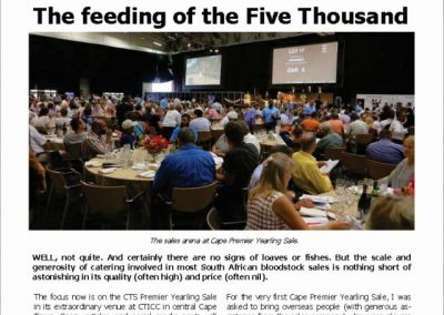 The feeding of the Five Thousand – Turf Talk: 22 January 2018