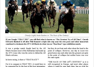 The race of the Century – Turf Talk: 11 December 2017