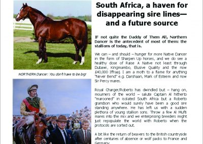SA, a haven for disappearing sire lines – Turf Talk: 29 January 2018