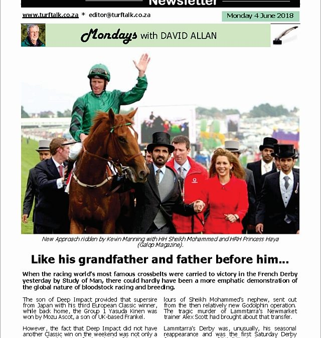 Like his grandfather and father before him – Turf Talk: 4 June 2018