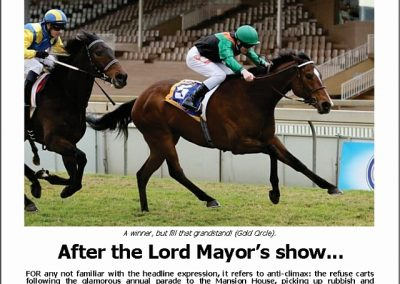 After the Lord Mayor's show – Turf Talk: 25 June 2018