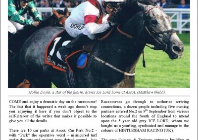 Come Racing! Now! – Turf Talk: 18 September 2017