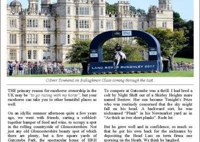 Racehorses at Burghley House – Turf Talk: 4 September 2017