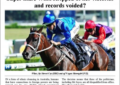 Winx stripped of her victories – Turf Talk: 30 October 2017