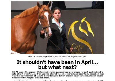 It shouldn't have been in April… but what next? – Turf Talk: 16 April 2018