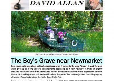 The Boy's Grave near Newmarket – TT: 25 February 2019