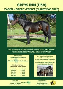 Greys Inn Stud Card