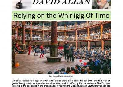Relying on the Whirligig Of Time – Turf Talk: 6 May 2019