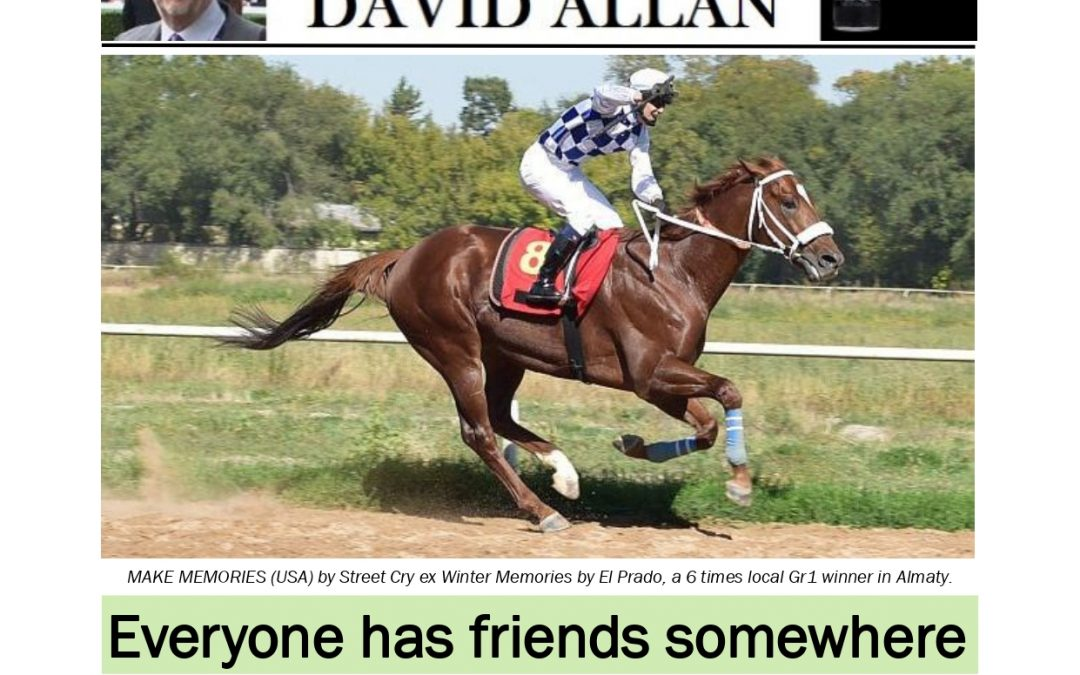 Everyone has friends somewhere – Turf Talk: 7 October 2019
