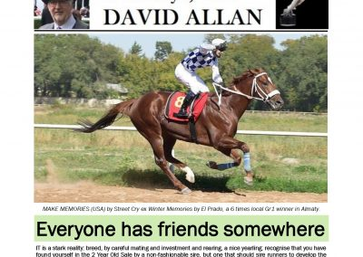 Everyone has friends somewhere – Turf Talk: 7 October 2019