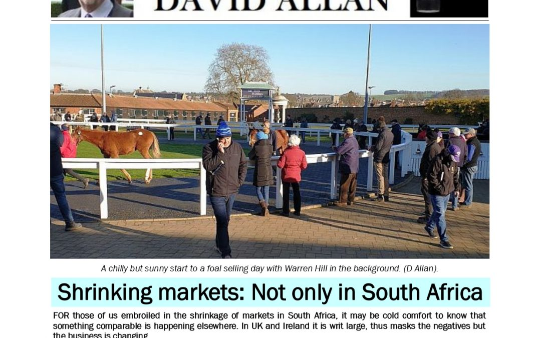 Shrinking markets: Not only in South Africa – Turf Talk: 2 December 2018