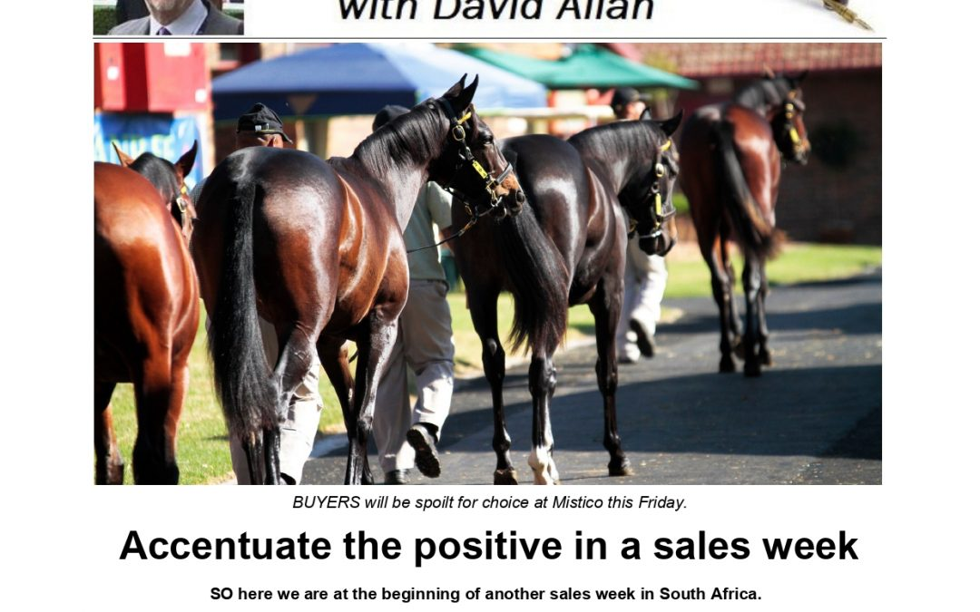 Accentuate the positive in a sales week – Turf Talk: 24 February 2020