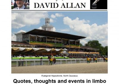 Quotes, thoughts and events in limbo – Turf Talk: 10 February 2020