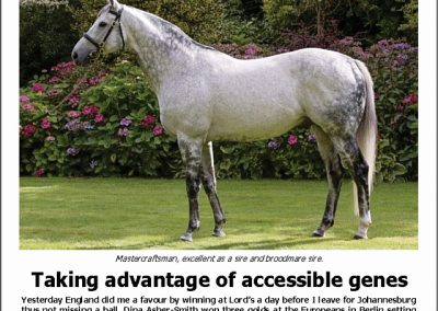 TAKING ADVANTAGE OF ACCESSIBLE GENES: Turf Talk – 13 August 2018
