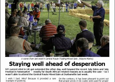 STAYING WELL AHEAD OF DESPERATION: Turf Talk – 30 July 2018