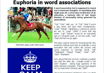 EUPHORIA IN WORD ASSOCIATIONS: Turf Talk – 19 February 2018