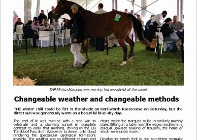 CHANGEABLE WEATHER AND CHANGEABLE METHODS: Turf Talk – 28 May 2018