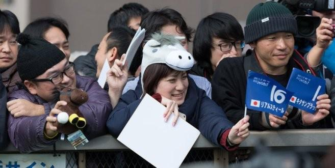 Japanese racing fans buy soft toy replicas of their favourite horses.