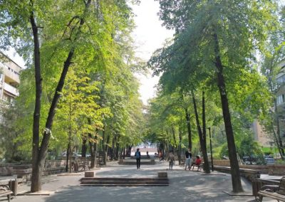 An Almaty pedestrian street
