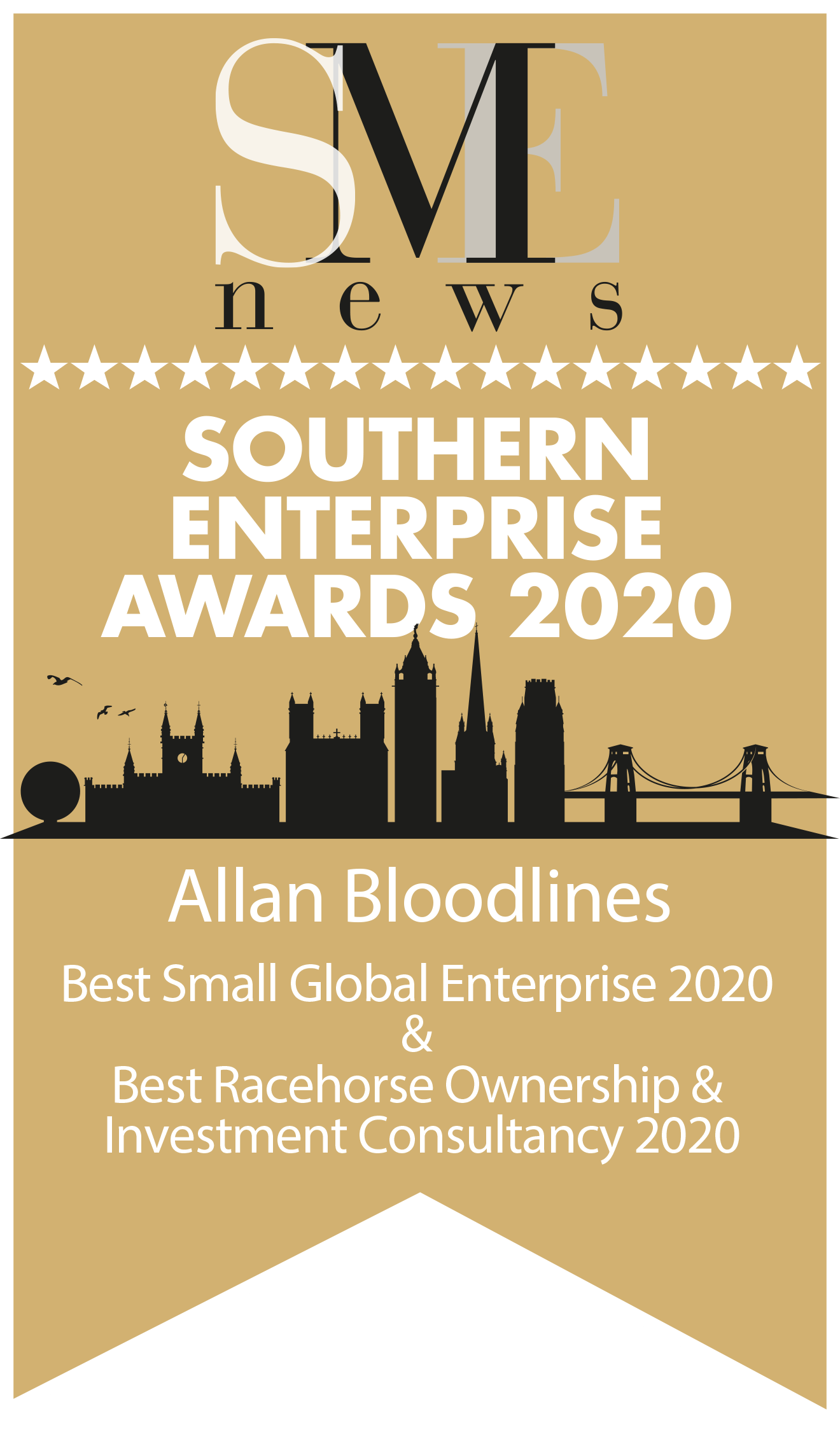 SME News Southern Enterprise Awards 2020 - AllanBloodlines - Best Small Global Enterprise 2020 _ Best Racehorse Ownership & Investment Consultancy 2020