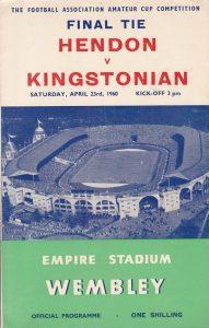 Amateur Cup final Programme