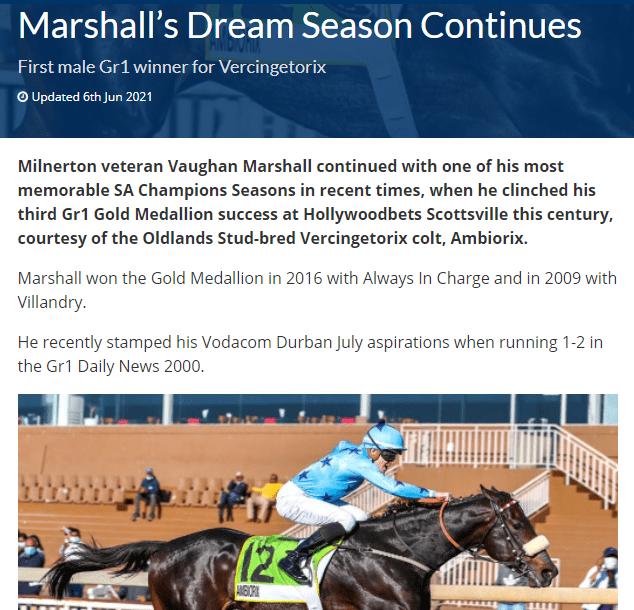 MARSHALL'S DREAM SEASON CONTINUES: Sporting Post – 6 June 2021