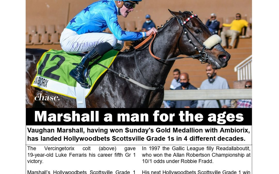 MARSHALL A MAN FOR THE AGES: Turf Talk – 8 June 2021