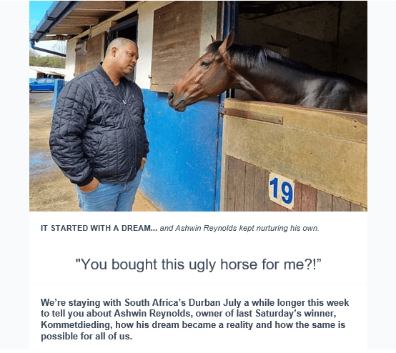 RACEHORSE OWNERSHIP: START SMALL AND NURTURE THE DREAM