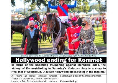 HOLLYWOOD ENDING FOR KOMMETDIEDING- Turf Talk: 5 July 2021