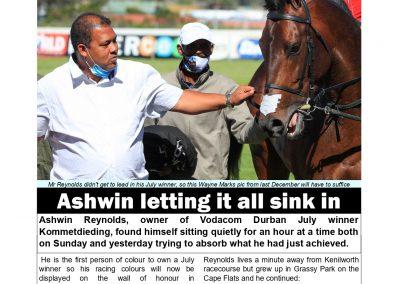 ASHWIN LETTING IT ALL SINK IN – Turf Talk: 6 July 2021